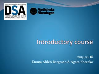 Introductory course