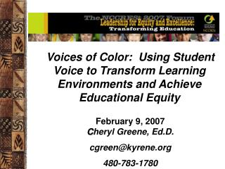 Using Student Voice to Foster the Equity Journey: