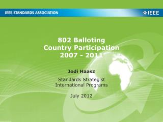 802 Balloting  Country Participation 2007 - 2011