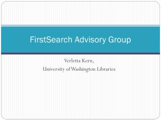 FirstSearch Advisory Group