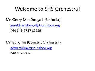Welcome to SHS Orchestra!