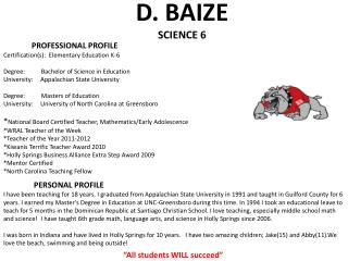 D.  BAIZE SCIENCE 6