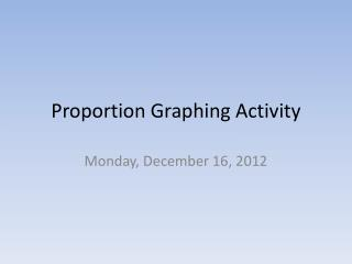 Proportion Graphing Activity