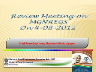 Review Meeting on MGNREGS On  4-08-2012