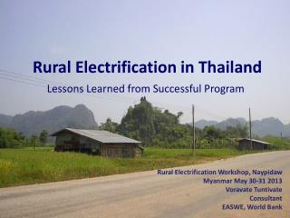 Rural Electrification in Thailand