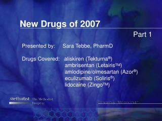 New Drugs of 2007 Part 1