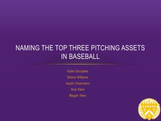 Naming the top three pitching assets in baseball