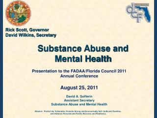 Substance Abuse and Mental Health