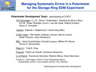 Managing Systematic Errors in a  Polarimeter for the Storage Ring EDM Experiment