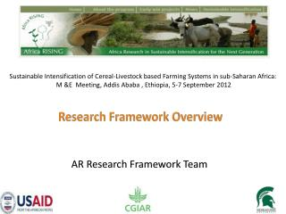 AR Research Framework  T eam