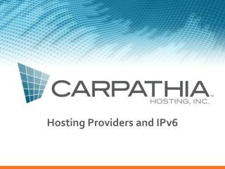 Hosting Providers and IPv6