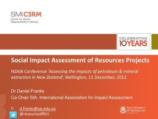 Social Impact Assessment of Resources Projects