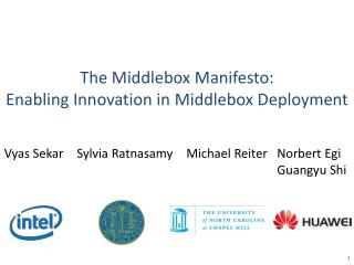 The  Middlebox  Manifesto: Enabling Innovation in  Middlebox  Deployment