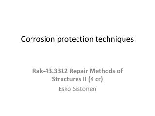 Corrosion protection techniques