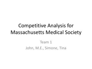 Competitive Analysis for Massachusetts Medical Society