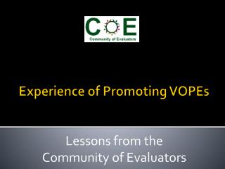 Experience of Promoting VOPEs