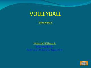 "VOLLEYBALL  ""Mintonett e"""