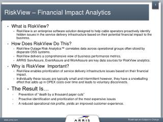 RiskView – Financial Impact Analytics