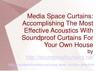 Noise Curtains For Media Rooms