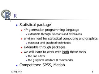 Statistical package 4 th  generation programming language