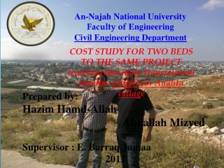 An- Najah  National University Faculty of  Engineering Civil Engineering Department