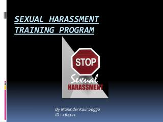Sexual harassment training program