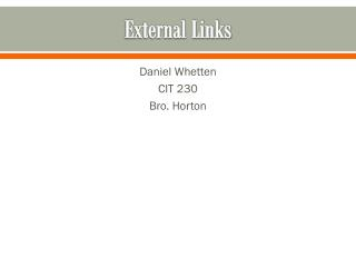 External Links