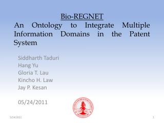 Bio-REGNET An  Ontology to Integrate Multiple Information Domains in the Patent System