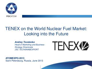 TENEX on the World Nuclear Fuel Market: Looking into the Future