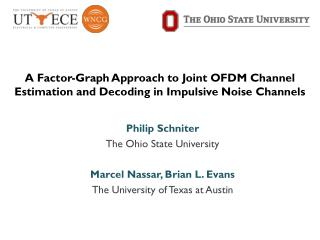 A Factor-Graph Approach to Joint OFDM Channel Estimation and Decoding in Impulsive Noise Channels