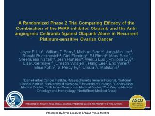 Presented By Joyce Liu at 2014 ASCO Annual Meeting