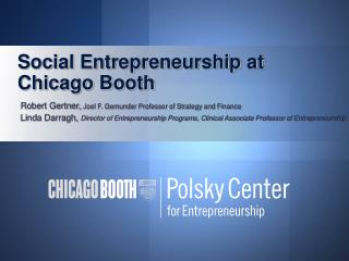 Social Entrepreneurship at Chicago Booth
