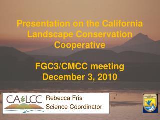Rebecca Fris Science Coordinator