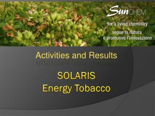 SOLARIS  Energy Tobacco