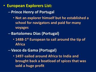 European Explorers List: Prince Henry of Portugal