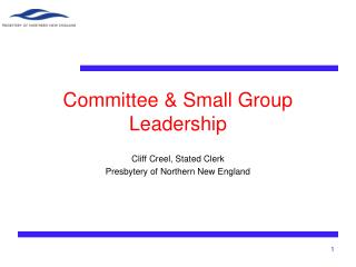 Committee & Small Group Leadership