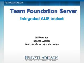 Integrated ALM toolset