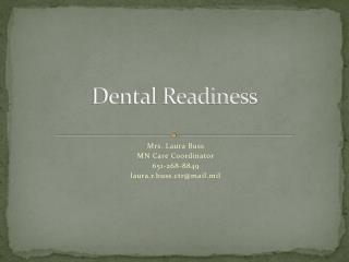 Dental Readiness