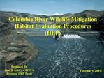 Columbia Basin  Wildlife Mitigation