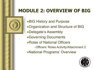 MODULE 2: OVERVIEW OF BIG