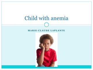 Child with anemia
