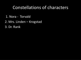 Constellations of characters