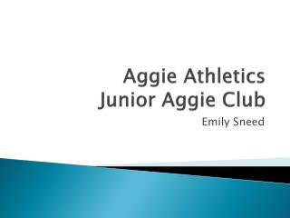 Aggie Athletics Junior Aggie Club