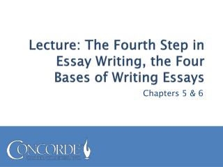 Lecture: The Fourth Step in Essay Writing, the Four Bases of Writing Essays