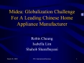 Midea: Globalization Challenge For A Leading Chinese Home Appliance Manufacturer
