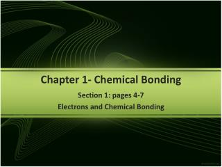 Chapter  1-  Chemical Bonding