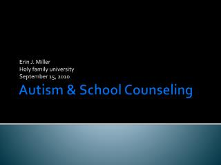 Autism & School Counseling