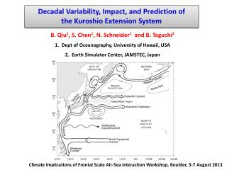 Decadal Variability, Impact, and Prediction of                 the  Kuroshio  Extension  System