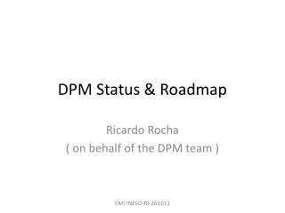 DPM Status & Roadmap