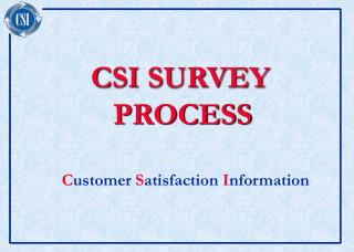 CSI SURVEY     PROCESS